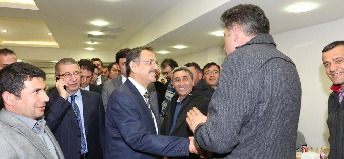 Başkanımız Özhaseki'ye 30 Mart seçimlerinde açık destek