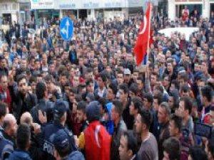 Aksaray'da HDP'ye büyük tepki