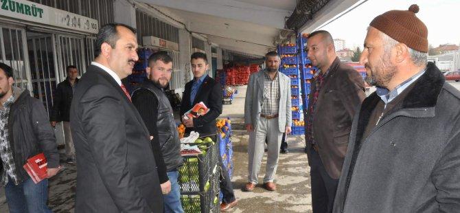 KAYSERİ'DE ESNAFLAR SAADET PARTİSİ'NE DERT YANDILAR