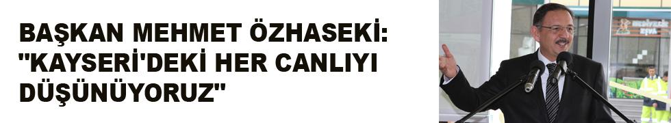 """BAŞKAN MEHMET ÖZHASEKİ: """"KAYSERİ'DEKİ HER CANLIYI DÜŞÜNÜYORUZ"""""""