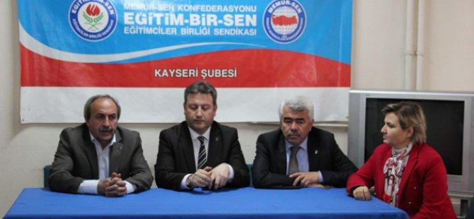 Ak Parti Talas Belediye Başkan Adayı Memur-Sen'i Ziyaret Etti