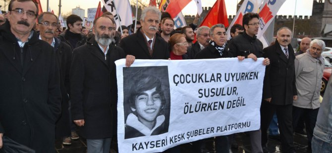 KAYSERİ'DE 'BERKİN ELVAN' PROTESTOSU