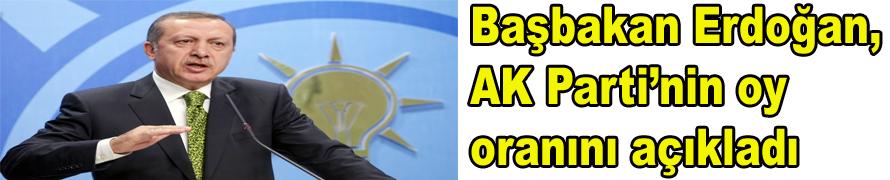 Başbakan Erdoğan, AK Parti'nin oy oranını açıkladı