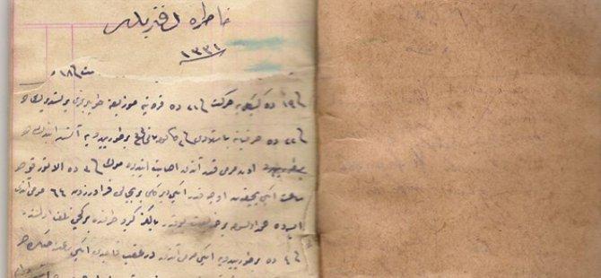 Çanakkale günlüğü 99 yıl sonra ortaya çıktı