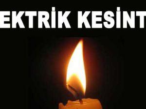DİKKAT KAYSERİ'DE PAZAR GÜNÜ ELEKTRİK KESİNTİSİ
