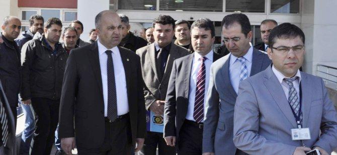 KAYSERİ EMNİYET MÜDÜRÜ AYDIN YARALI POLİSLERİ ZİYARET ETTİ