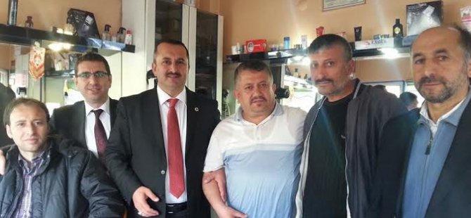 SAADET PARTİSİ HUNAT ESNAFINI ZİYARET ETTİ