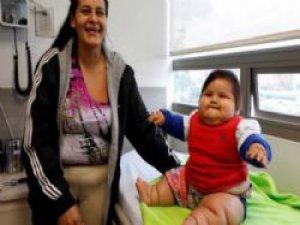 8 aylık bebeğin kilosu şaşırttı
