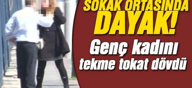 Dikmen'de Kadına Sokak Ortasında Tekme Tokat Dayak!