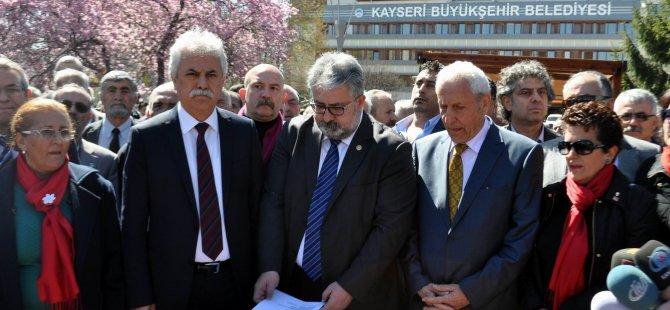 KAYSERİ CHP'DEN 'SUCUK' PROTESTOSU
