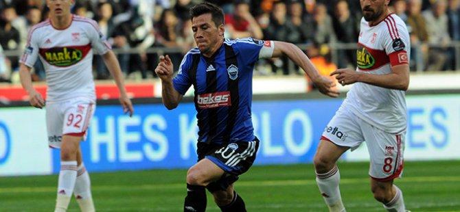 Kayseri Erciyesspor Sivasspor'u konuk etti Maç 1-1 berabere tamamlandı