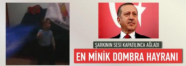 En minik Dombra hayranı - VİDEO