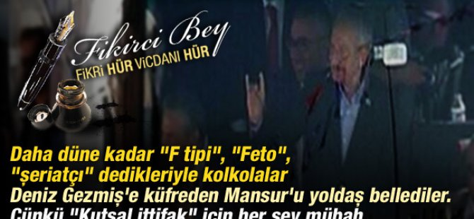 DENİZ'E KÜFREDENLER MANSUR'A YOLDAŞ DİYOR