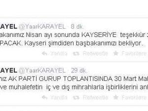 KARAYEL BAŞBAKAN NİSAN AYINDA KAYSERİ'YE GELMESİ BEKLENİYOR