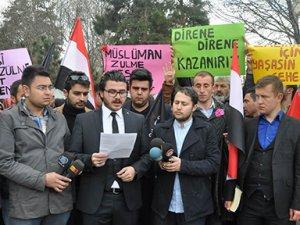 Kayseri'de AK Parti Gençlik Kolları Mısır'da alınan idam kararını protesto etti