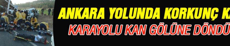 Kayseri'de Zincirleme kazada 25 kişi yaralandı