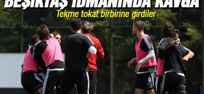 Beşiktaş'ın bu sabah yapılan antrenmanında ortalık karıştı