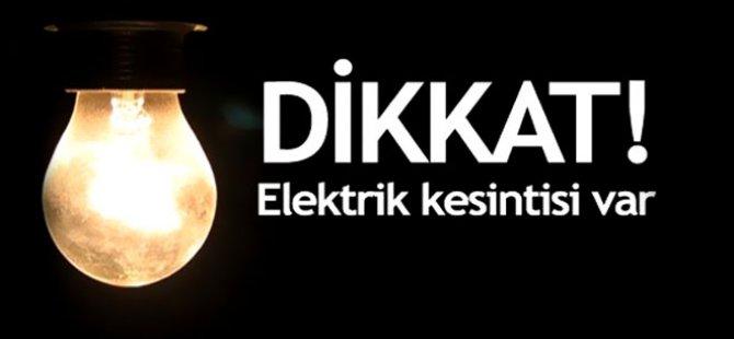 KAYSERİ'DE HAFTA SONU 20 YAKIN YERLERDE ELEKTRİK KESİNTİSİ