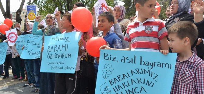 KAYSERİ'DE DİSK-GIDA-İŞ SENDİKASIN'DAN 23 NİSAN EYLEMİ