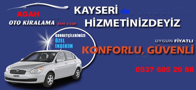 AGAH Oto Kiralama Kayseri'de Hizmete girdi