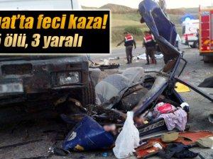 Yozgat'ta feci kaza: 5 ölü, 3 yaralı