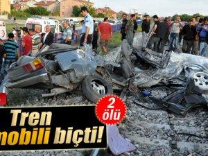 Konya'da Tren otomobili biçti: 2 ölü