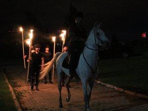 KAYSERİ'DE ÇERKES SÜRGÜNÜ 150. YILIN'DA DİLEK FENERLERİ İLE ANILDI