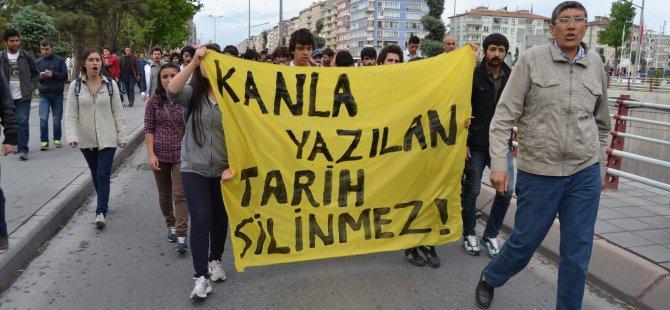 KAYSERİ'DE OKMEYDANI PROTESTO YÜRÜYÜŞÜ