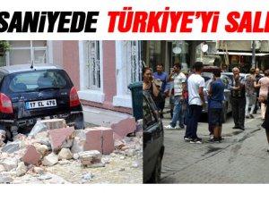 Deprem korkusu! 5 kişi kendini camdan attı