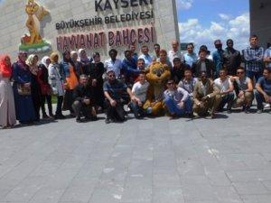 Öğrenim gördükleri şehir olan Kayseri'yi gezdiler