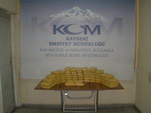 Kayseri'de 36 kilo 805 gram eroin ele geçirildi