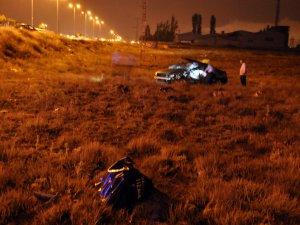Kayseri'de 5 Takla atan otomobil: 1 ölü 1 yaralı