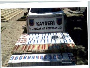 KAYSERİ JANDARMADAN KAÇAK SİGARA OPERASYONU