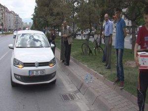 Kayseri'de Trafik kazası yaşlı bayana çarptı