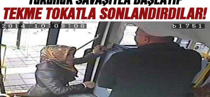 Sopayla Şöföre saldıran Kadın Dayak Yedi