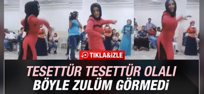 Düğünde apaçi dansı yapan türbanlı kız-döktürdü-video
