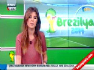 NTV Spor spikeri Tuğba Mikronu Açık Unutunca...