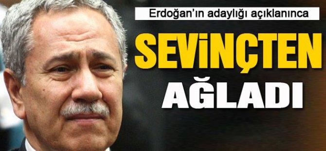 Bülent Arınç, Erdoğan'ın adaylığı açıklanınca ağladı-video