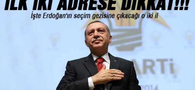 İşte Başbakan Erdoğan'ın seçim gezisinde ilk iki adresi