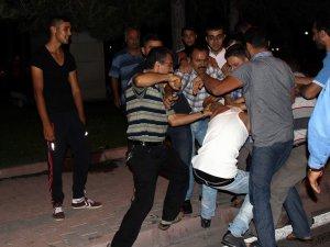 Kayseri'de Trafik kazası sonrası mahalle dayı