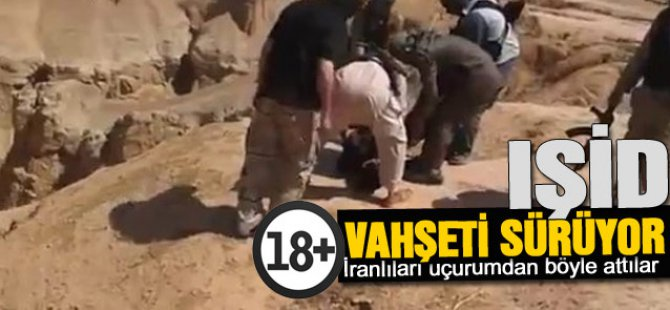 IŞİD İranlıları Uçurumdan Aşağı Atıyor-video