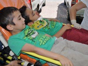 Kayseri zincirleme kaza çok sayıda yaralı çocuk var