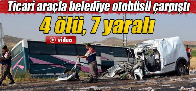 Kayseri'de trafik kazası: 4 ölü, 7 yaralı