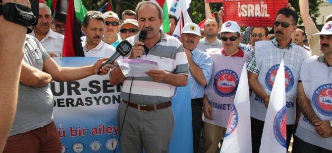 KAYSERİ MEMUR-SEN, GAZZE KATLİAMINI PROTESTO ETTİ