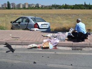 Talas yolunda trafik kazası