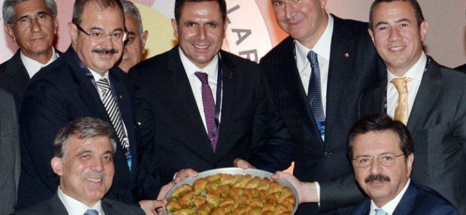 Cumhurbaşkanı Gül'e Gaziantep Jesti