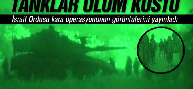 İsrail Ordusu Gazze'ye Kara Operasyonunun Görüntülerini Yayınladı