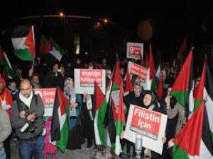 KAYSERİ İYİLİK VE KARDEŞİLK PLATFORMUNDAN İSRAİL PROTESTOSU