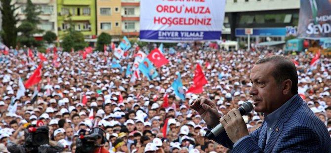 Ordu mitinginde konuşan Başbakan Erdoğan