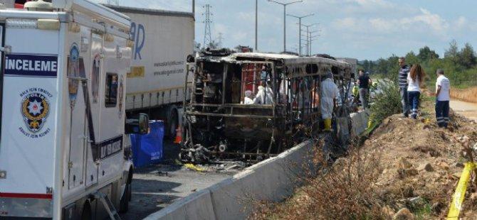 İstanbul'da Otobüs Yangını: 4 Ölü
